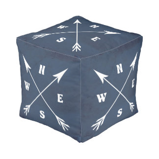 Compass arrows pouf