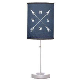 Compass arrows table lamp