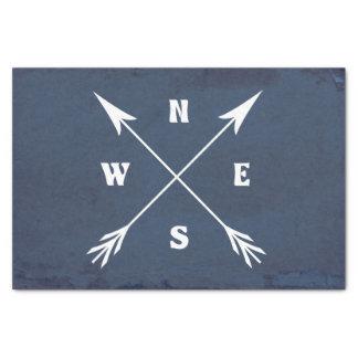 Compass arrows tissue paper