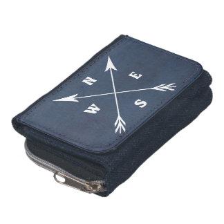 Compass arrows wallet