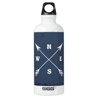 Compass arrows water bottle