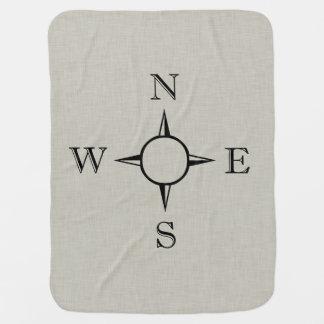 Compass Baby Blanket