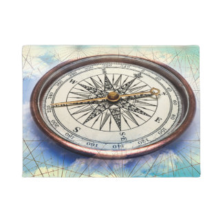 Compass Clouds Doormat