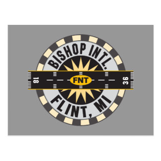 Compass - Flint- MI Bishop Intl. Airport FNT Postcard