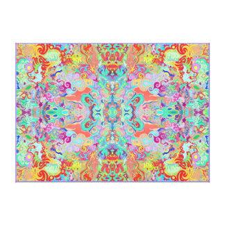 Compass Fractal Multi-colour Large Thick Canvas
