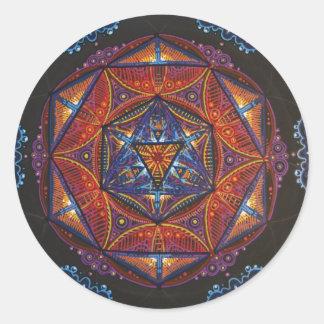 Compass Mandala Classic Round Sticker