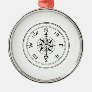 Compass Metal Ornament
