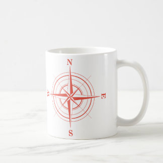 Compass Nautical Travel North South East West Coffee Mug