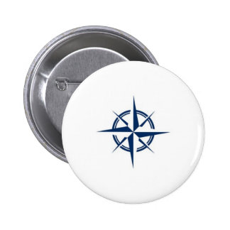 Compass needle 2 inch round button