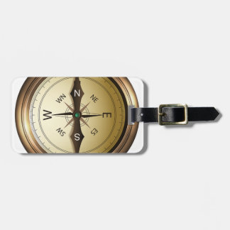 Compass North South East West Luggage Tag
