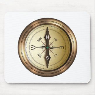 Compass North South East West Mouse Pad