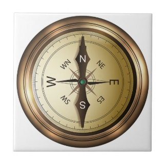 Compass North South East West Tile