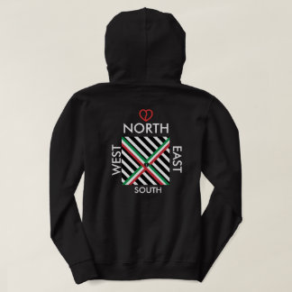 """Compass North Syn"" Hoodie Black"