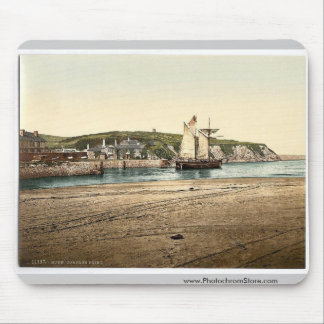 Compass Point, Bude, Cornwall, England vintage Pho Mouse Pad