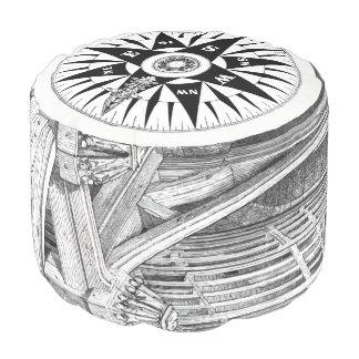 Compass Pouf