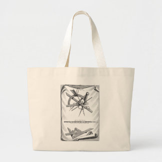 Compass, Right Angle and Scale Large Tote Bag