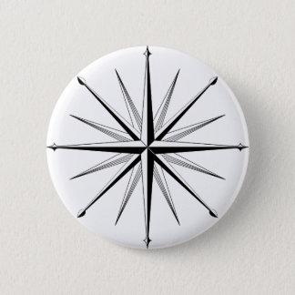 Compass Rose 2 Inch Round Button