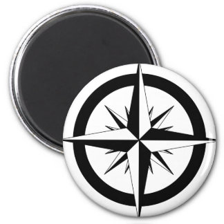 Compass Rose 2 Inch Round Magnet