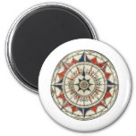 Compass Rose #5 Fridge Magnet