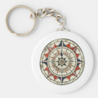 Compass Rose #5 Keychain