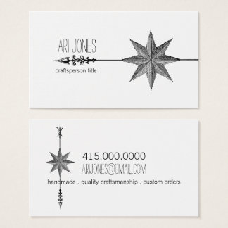 Compass Rose And Arrow Business Cards
