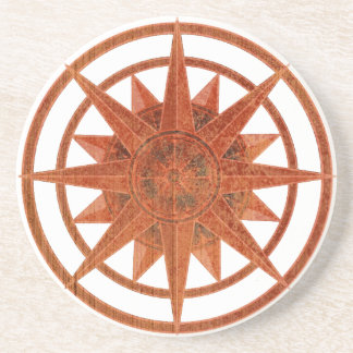 Compass Rose Beverage Coasters