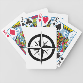 Compass Rose Bicycle Playing Cards