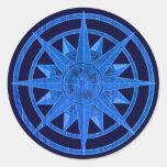 Compass Rose Classic Round Sticker