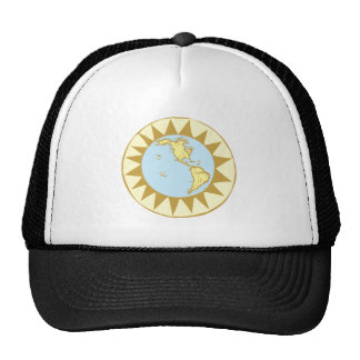 Compass Rose Earth # Mesh Hat