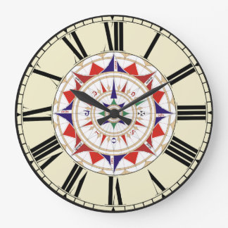 Compass Rose Large Clock