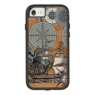 Compass Rose Nautical Art Print Ship Octopus Case-Mate Tough Extreme iPhone 8/7 Case