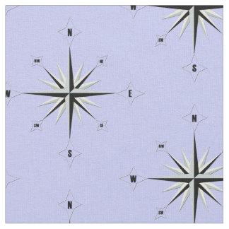 Compass Rose Nautical Blue Fabric