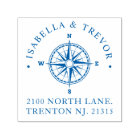 Compass Rose Nautical   Return Address Self-inking Stamp