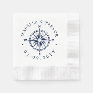 Compass Rose Nautical Wedding Disposable Napkins