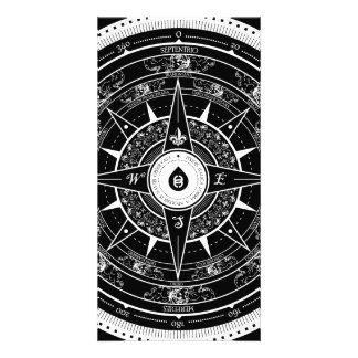 Compass Rose - Photocard (Black) Picture Card