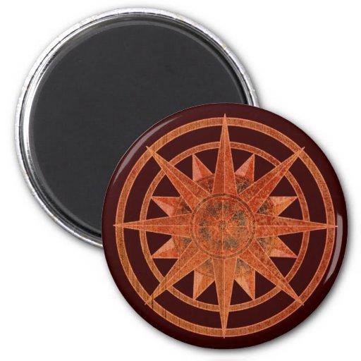 Compass Rose Refrigerator Magnet