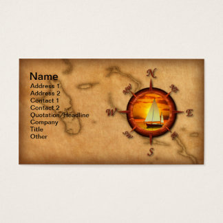 Compass Rose Sailing Business Card