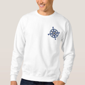 Compass Rose Sailing Embroidered Sweatshirt