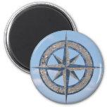 Compass Rose (Sand, Water, Sky) Refrigerator Magnet