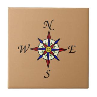 Compass Rose Tan Tile