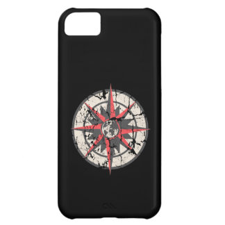 Compass Rose with Globe, Distressed iPhone 5C Covers