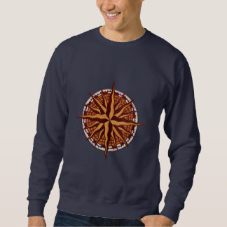 Compass Rose Wood Sweatshirt