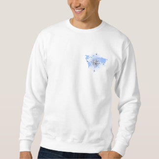 Compass Rose World Map Mens Sweatshirt