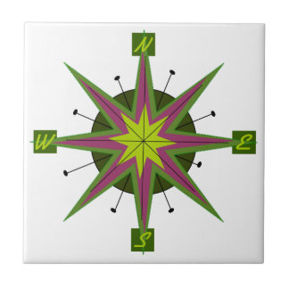 Compass Skewed Design Tile