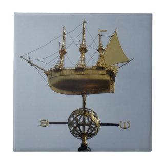 "Compass Small (4.25"" x 4.25"") Ceramic Photo Tile"