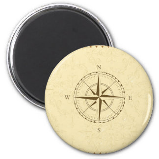 compass vintage south west east 2 inch round magnet