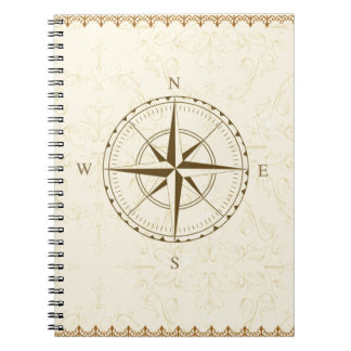 compass vintage south west east notebooks