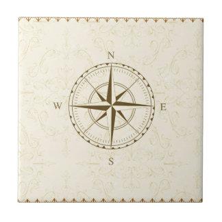 compass vintage south west east tile
