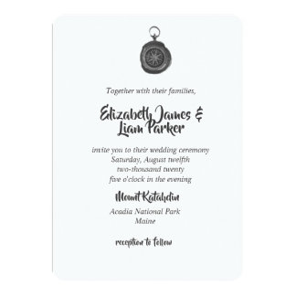 Compass Wedding Invitations