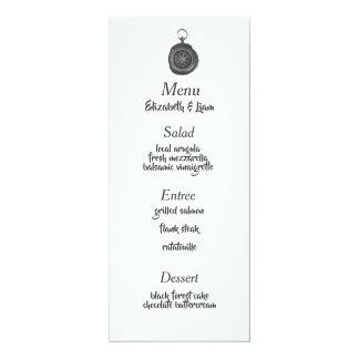Compass Wedding Menu Card